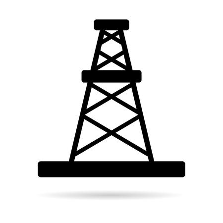 oil rig: Oil rig black icon Illustration
