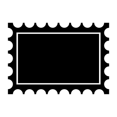 postage: Postage stamp black icon
