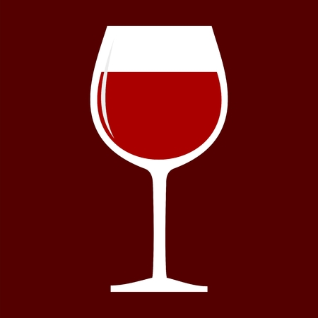 red wine glass: Red Wine glass icon