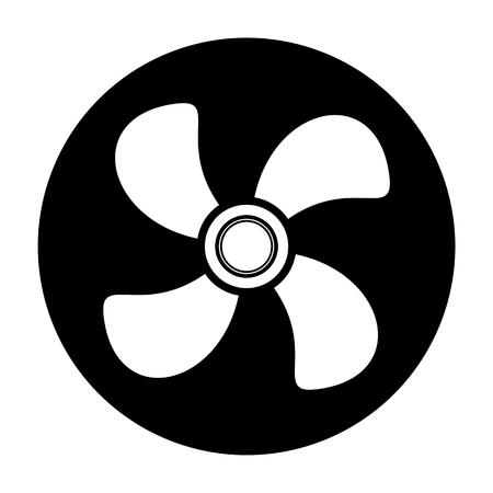 ventilator: Ventilator air conditioner icon Illustration