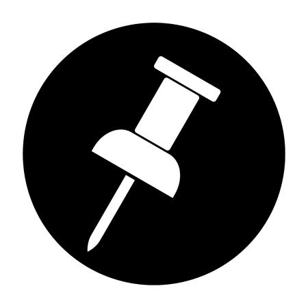 push: Push Pin Black Icon