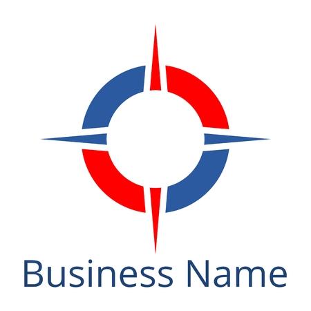 busines: Compass Logo Busines name Illustration