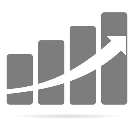 Profit sign graph concept