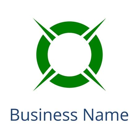 busines: Compass Logo Busines name green Illustration