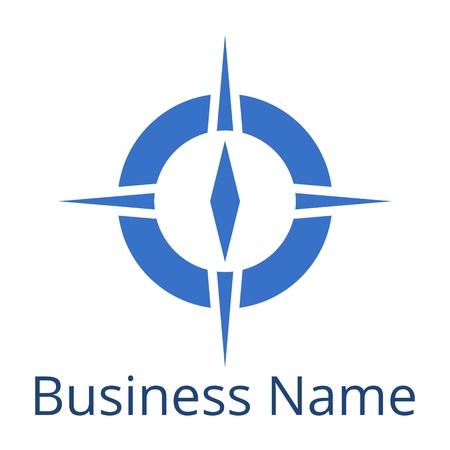 bussola: Compass Logo nome Busines blu
