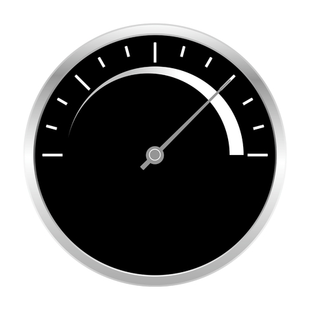 warning indicator: Speedometer scale high icon black and white