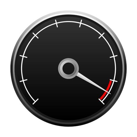 Calibrador de la velocidad máxima Ilustración de vector