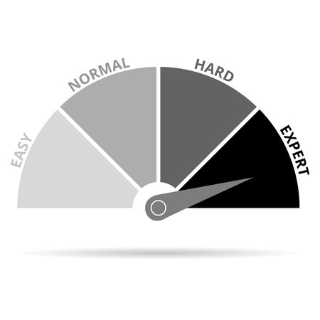 rating meter: Scale icon expert black and white