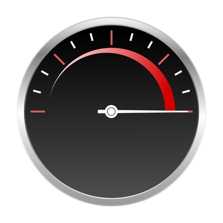max: Speedometer scale max icon red