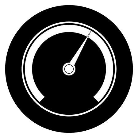 km: Speedometer circle icon Illustration
