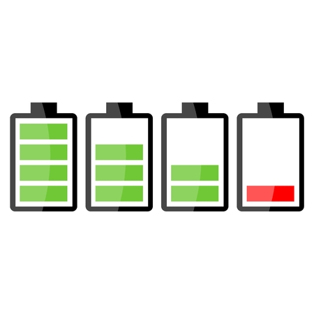 Battery charge Stock Illustratie
