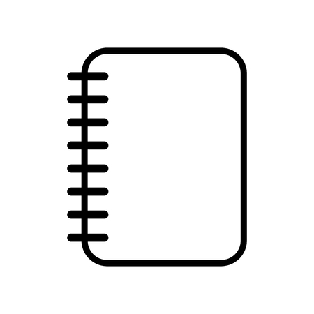 notebook icon: Notebook icon Illustration