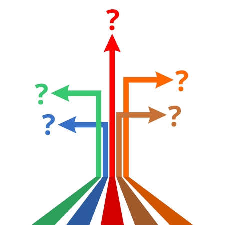 cause marketing: Arrows infographics question