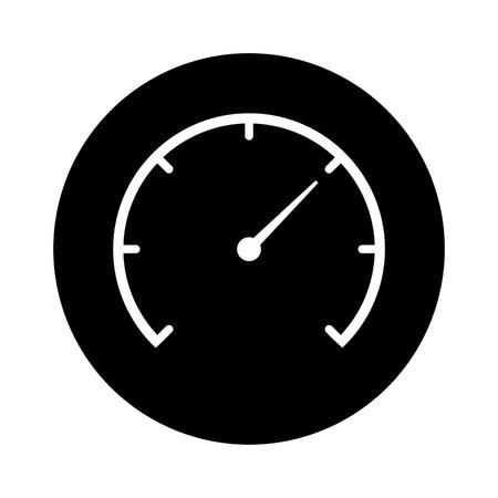 dsl: Speedometer black circle icon