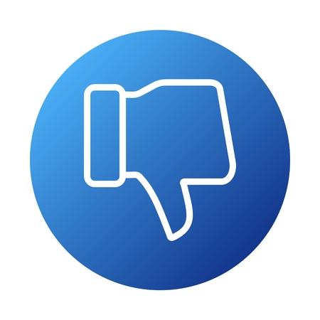 thumb keys: Dislike Icon