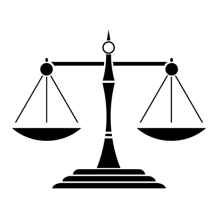 scale of justice: Justice Scale Black Icon