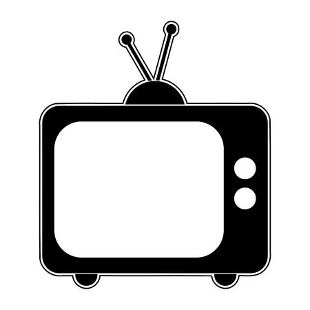 retro tv: Black Retro tv icon