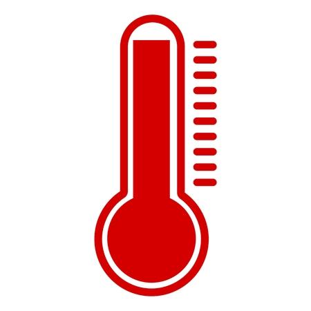 Termometr Hot czerwona ikona