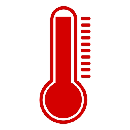 hotness: Thermometer Hot red Icon Illustration