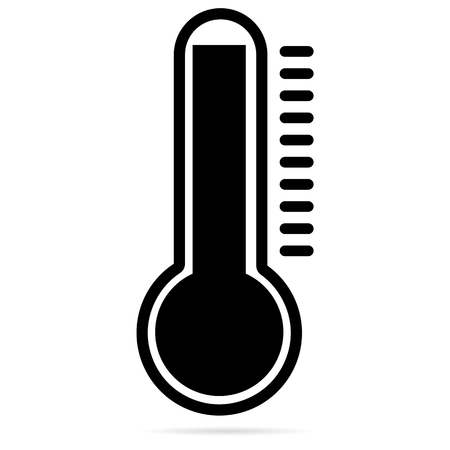 hotness: Thermometer Hot Black Icon