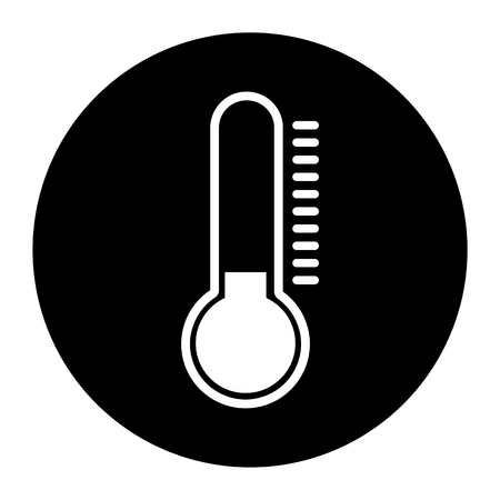 polar climate: Thermometer Cold Black Icon