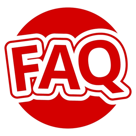 frequently: Frequently Asked Questions Red Circle