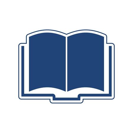 Prenota l'icona blu isolato su sfondo bianco Vettoriali