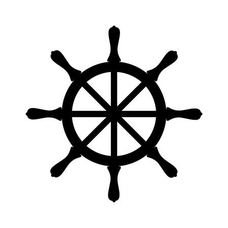 frigate: Steering wheel of the ship Illustration