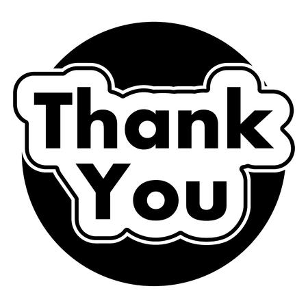 te negro: Gracias Círculo negro