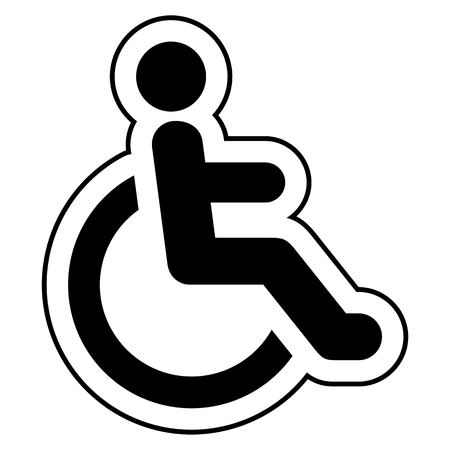 accessibility: Disabled icon sign Accessibility black on white background