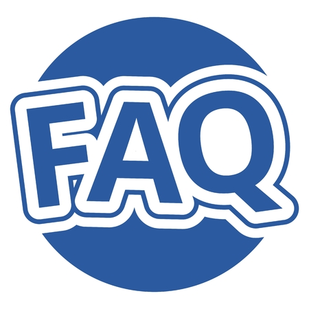 Frequently Asked Questions Blue Circle Vettoriali