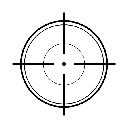 crosshair: Crosshair on white background Illustration