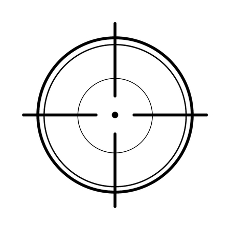 Crosshair on white background Vectores