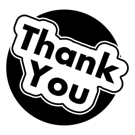 te negro: Gracias Negro Círculo Vectores