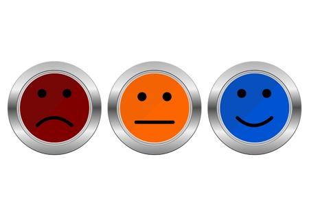 Survey Buttons business customer service feedback concept
