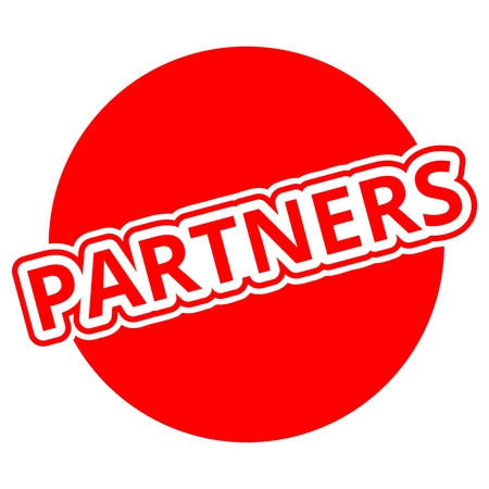 partners: Partners Button red Illustration