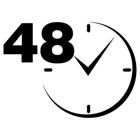 48 ore firmano orologio nero
