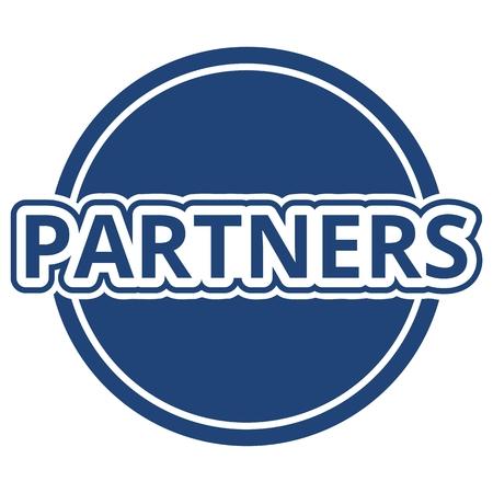 partners: Partners Button Blue