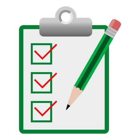checklist: Vector checklist icon green