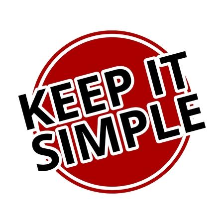 Keep it Simple roten Kreis