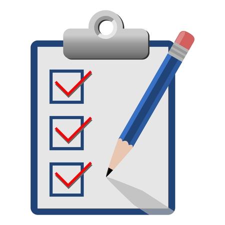 checklist: Vector checklist icon blue