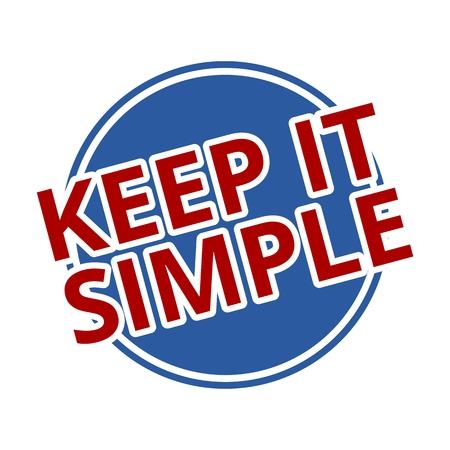 Keep it Simple blue circle