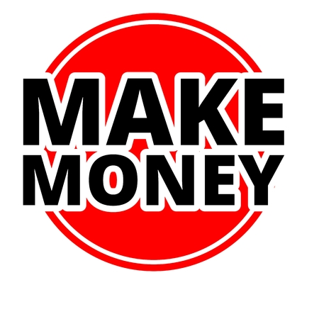 url: Make Money Button red with black letters