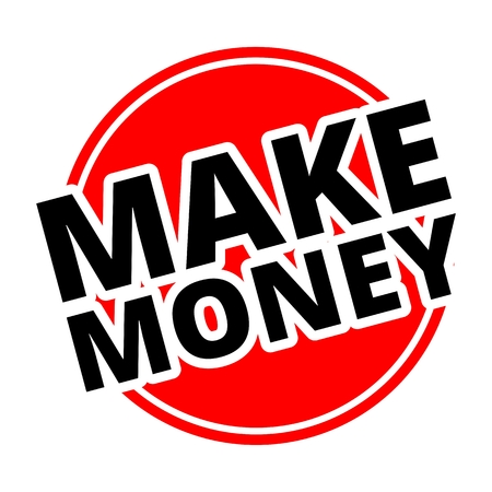 make money: Make Money Button red Illustration