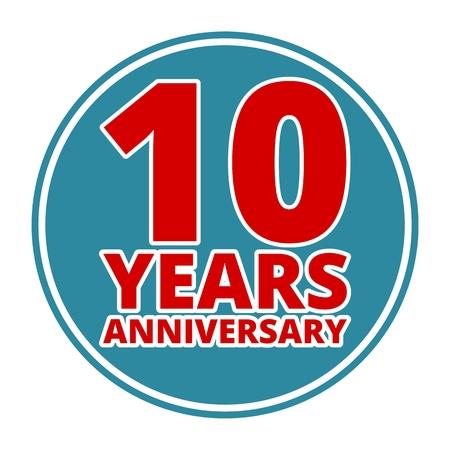 30 to 40 years: Anniversary 10 years