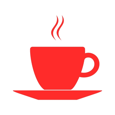 Coffee Cup Icon red Stock Illustratie
