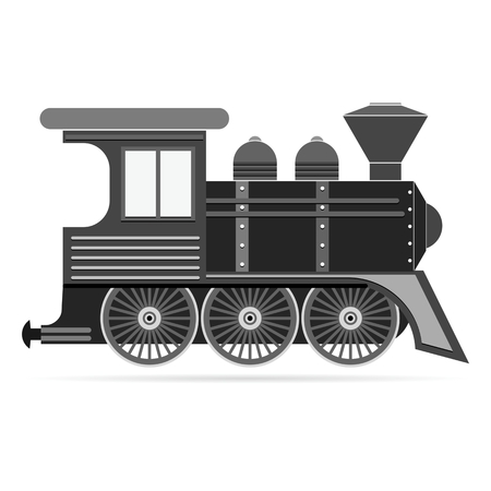 sooty: Steam Locomotive Train isolate on white