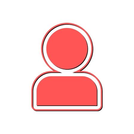 user icon: User Icon red Illustration
