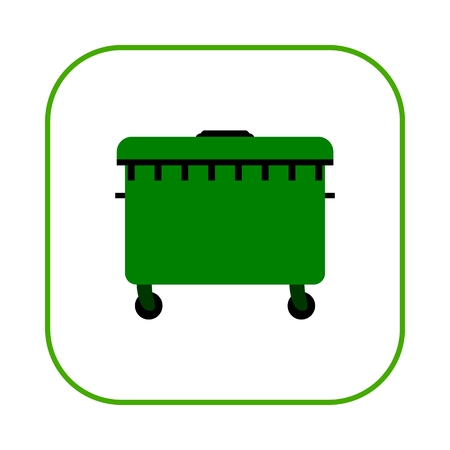 environmental awareness: A large green recycling bin