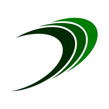 green swirl: Swirl loop finance abstract green logo Illustration